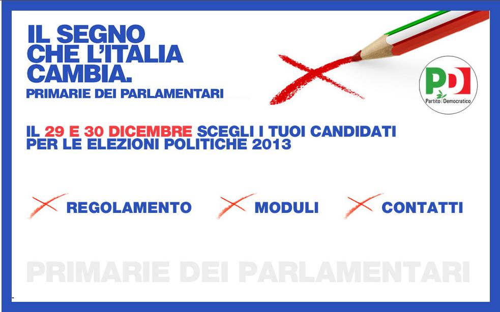 Primarie parlamentari pd 30 dicembre pd marconi roma11 for Parlamentari pd
